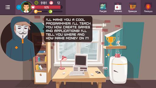 Hacker - tap smartphone tycoon, life simulator androidiapk screenshots 1