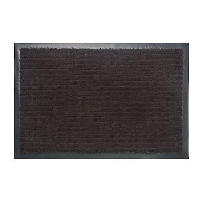 Коврик придверный влаговпитывающий на пвх ребро 3:2 коричневый 40x60см Lider