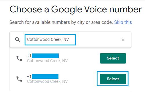 أدخل رقم TextNow في Google Voice