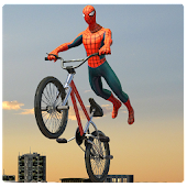 Spider Hero Roof Stunt