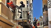 Operación de rescate del hombre de 82 años, este martes en Almería.