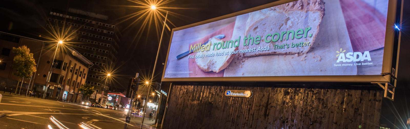 ASDA used OOH to promote locally made produce 'right around the corner' for a hyper-local advertising campaign.