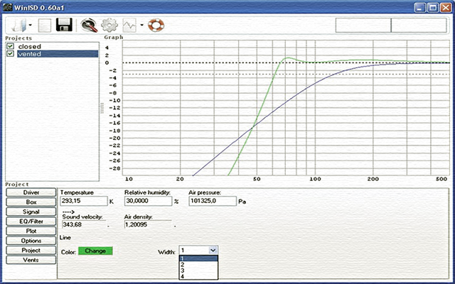 Software WinISD para el cálculo de recintos de subwoofer