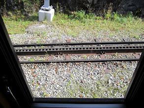 Photo: Cog Wheel train track in Interlaken