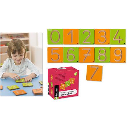 Spåra i trä - Siffror - 7763-740-0