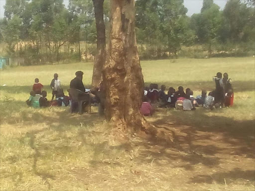 Under CBL, children would learn under trees and other public places.