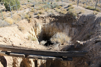 Photo: A much bigger abandoned mine. This is a dangerous place. Rocks take almost two seconds to reach the bottom.