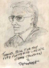 "Photo: George Crenshaw, creator of ""Belvedere"", drawn at Germania Restaurant San Jose CA"