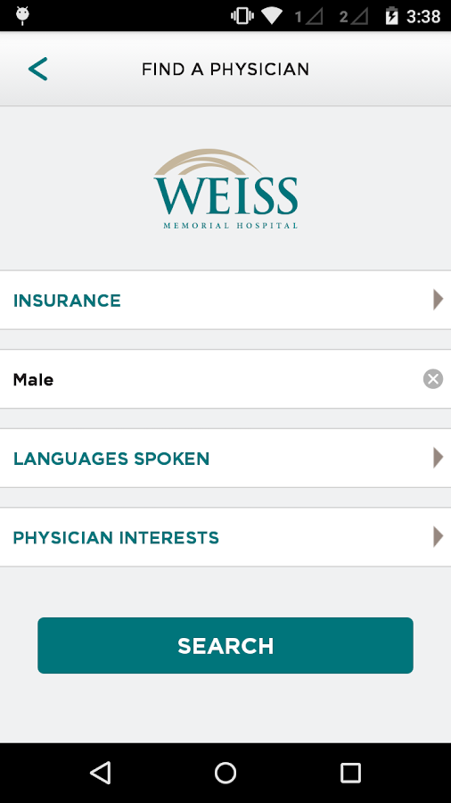 Weiss Memorial Hospital- screenshot