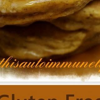 Gluten Free Pumpkin Spice Pancakes.
