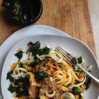 Asian Oyster Mushroom & Daikon Salad