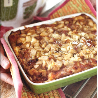 Goat Cheese, Pear and Proscuitto Strata