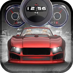 download Cars Live Clock Wallpaper apk