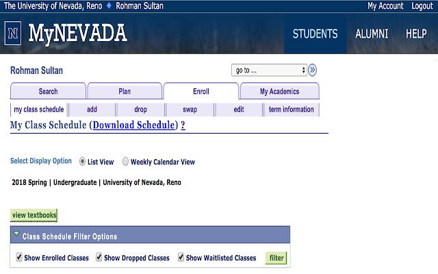 MyNevada Schedule Downloader
