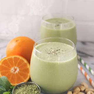Orange Matcha Smoothie.