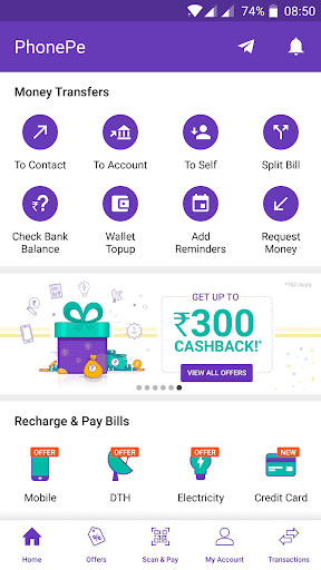 PhonePe – UPI Payments, Recharges & Money Transfer screenshot for Android