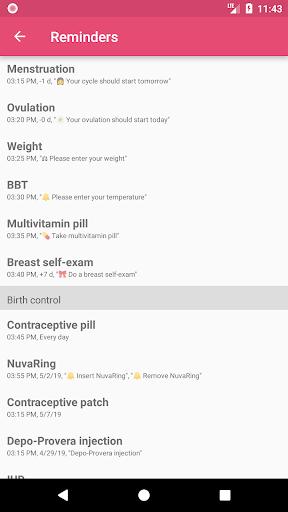 WomanLog Calendar  screenshot 8