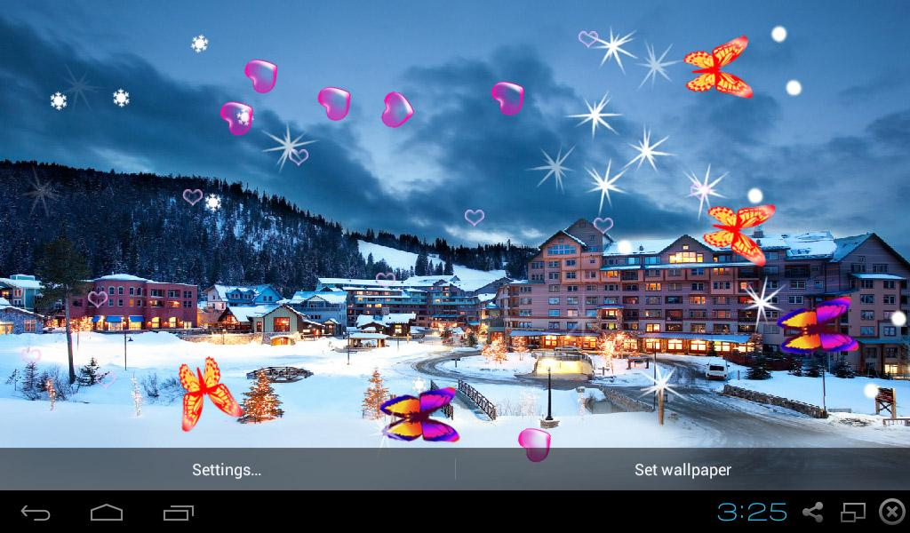 winter snow live wallpapers android apps on google play