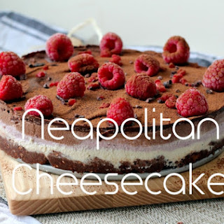 Neapolitan Dairy Free Cheesecake
