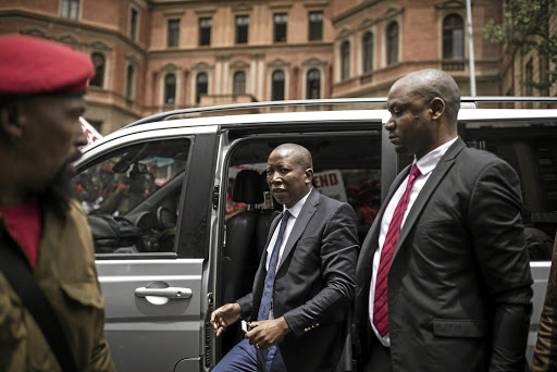 EFF leader Julius Malema has been accused of unleashing his bodyguards on disgruntled EFF supporters. / Gallo Images