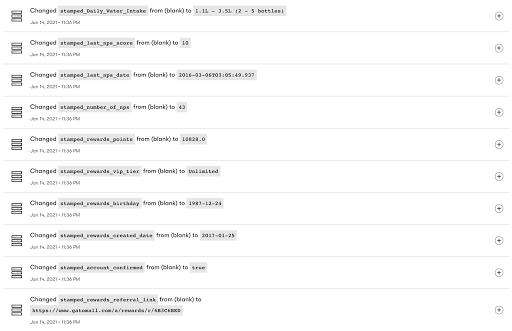 Drip and Stamped.io Integration Screenshot