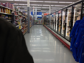 Photo: Our walmart doesn't have much when it comes to food. Welcome to small town living I guess