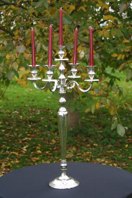 Chandelier 5 bougies, hauteur 78 cm