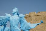 Statue devant la Kasbah