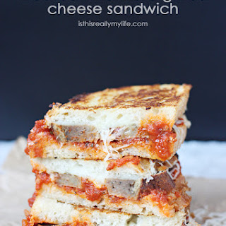 Meatball Marinara Grilled Cheese Sandwich