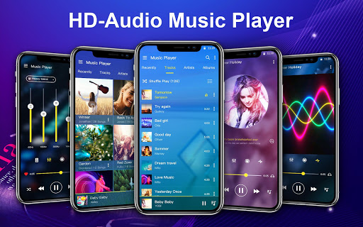 Music Player with equalizer and trendy design screenshots 1