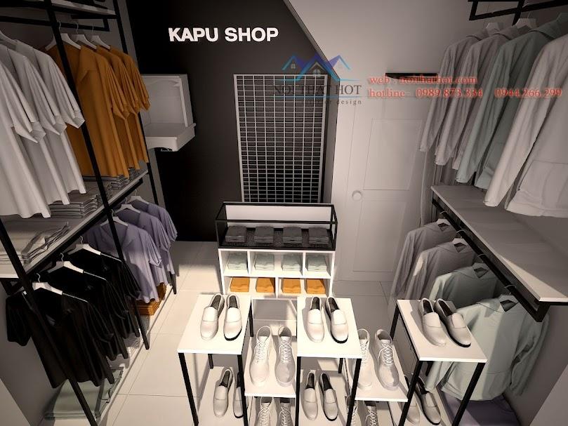 thiết kế shop thời trang nam diện tích nhỏ tại Hà Nội