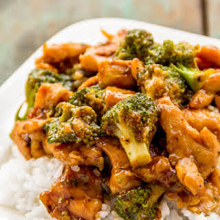 Healthy Chicken and Broccoli Stir-fry.