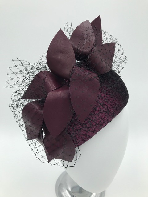 One of Kylie Heagney's creations at the Brisbane Millinery Fair
