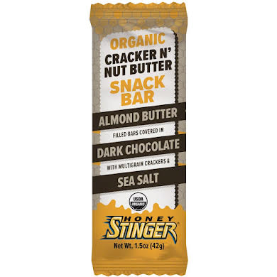 Honey Stinger Cracker N' Nut Butter Snack Bars: Almond Butter Dark Chocolate, Box of 12 Thumb