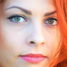 Katarina by Slaven Bandur - People Portraits of Women ( red, hair, lips, face, beauty, girl, portrait, eyes )