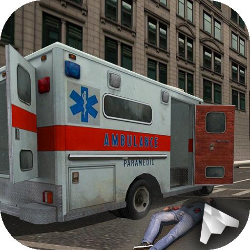 角色扮演の市救急車駐車場3D LOGO-記事Game