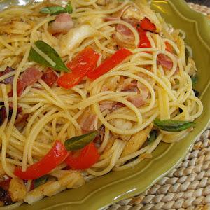 Sauteed Cod with Spaghetti