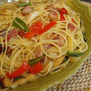 Sauteed Cod with Spaghetti.