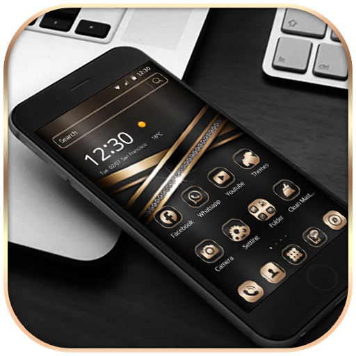 Black Gold Theme Wallpaper - Apps on