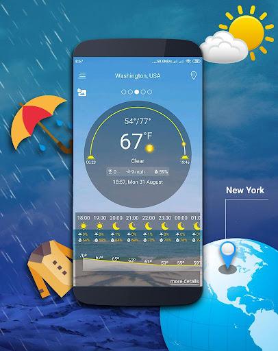Weather map screenshot 1
