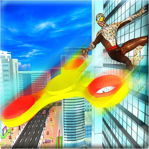 Fidget Spinner Super Spider Hero vs Crime City