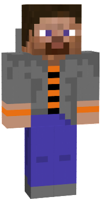 a spoopy steve skin for the spoopy noober
