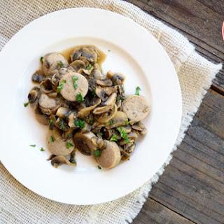 Low Carb Sausage And Mushrooms.