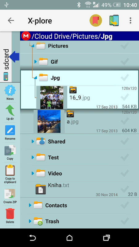 X-plore File Manager screenshots