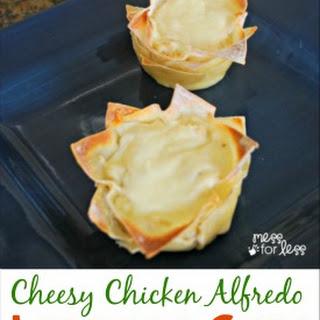 Chicken Alfredo Lasagna Cups.