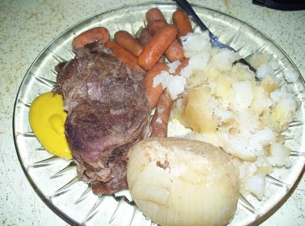 Karla's Beef Chuck Roast Dinner (in A Crockpot) Recipe