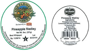 Label, The Farmers Market Pineapple Medley, 8 oz