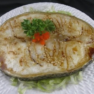Grilled Chilean Seabass with Ponzu Sauce.