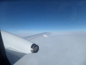 Photo: Mulet väder hela resan vi flög på 8.000 m höjd.