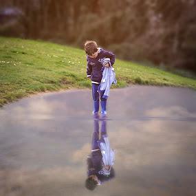 River Boy by Una Williams Photos - Babies & Children Children Candids ( water, child, family, childhood, boy )